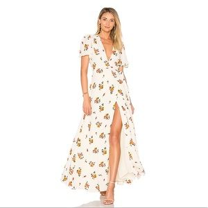 Privacy Please Floral Wrap Dress in size S